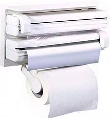 Настенный держатель для бумажных полотенец, фольги и пленки MHZ 5821, белый