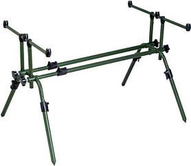 Род под, подставка под удилище MHZ Rod Pod Robinson 91SK005, алюминиевая, зеленая