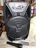 Акустическая система Bluetooth колонка чемодан KIMISO QS - 821 (8'BASS+1MIC)