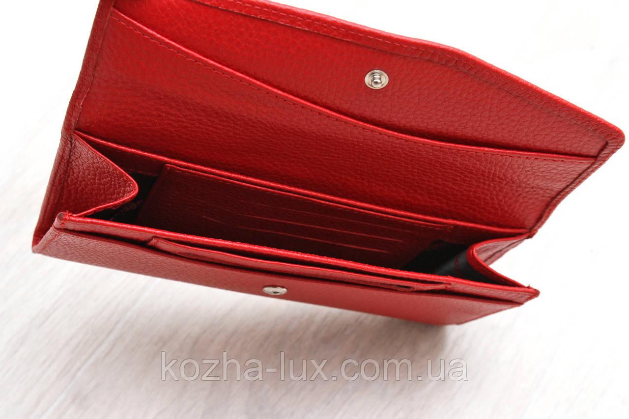 Женский тонкий кожаный кошелек красный Desisan Турция