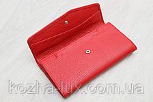 Женский тонкий кожаный кошелек красный Desisan Турция, фото 3
