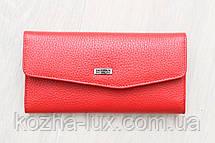 Женский тонкий кожаный кошелек красный Desisan Турция, фото 2