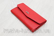 Жіночий тонкий шкіряний гаманець червоний Desisan Туреччина, фото 2