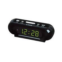 Настільний годинник VST 716-2 Green Light від мережі Чорний