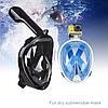 Маска SHOOT для подводного плавания (сноркелинга) с креплением для экшн камер - белая с бирюзовым L/XL, фото 4