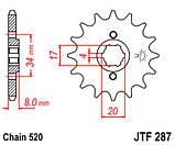Звезда стальная передняя JT Sprockets JT JTF287.14, фото 2