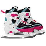 Роликовые коньки SportVida 4 в 1 SV-LG0032 Size 35-38 Pink-Blue SKL41-227436, фото 2