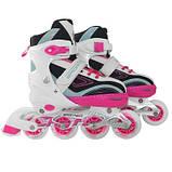 Роликовые коньки SportVida 4 в 1 SV-LG0032 Size 35-38 Pink-Blue SKL41-227436, фото 4