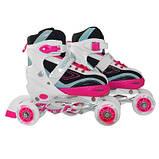 Роликовые коньки SportVida 4 в 1 SV-LG0032 Size 35-38 Pink-Blue SKL41-227436, фото 5