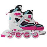 Роликовые коньки SportVida 4 в 1 SV-LG0032 Size 35-38 Pink-Blue SKL41-227436, фото 6