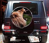 """Наліпка на бокс запасного колеса автомобіля""""Лев"""", фото 1"""