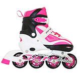 Роликовые коньки SportVida Size 35-38 White/Pink SKL41-239341, фото 2