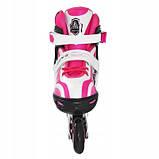 Роликовые коньки SportVida Size 35-38 White/Pink SKL41-239341, фото 3