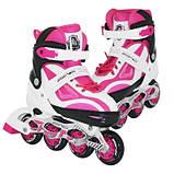 Роликовые коньки SportVida Size 35-38 White/Pink SKL41-239341, фото 4