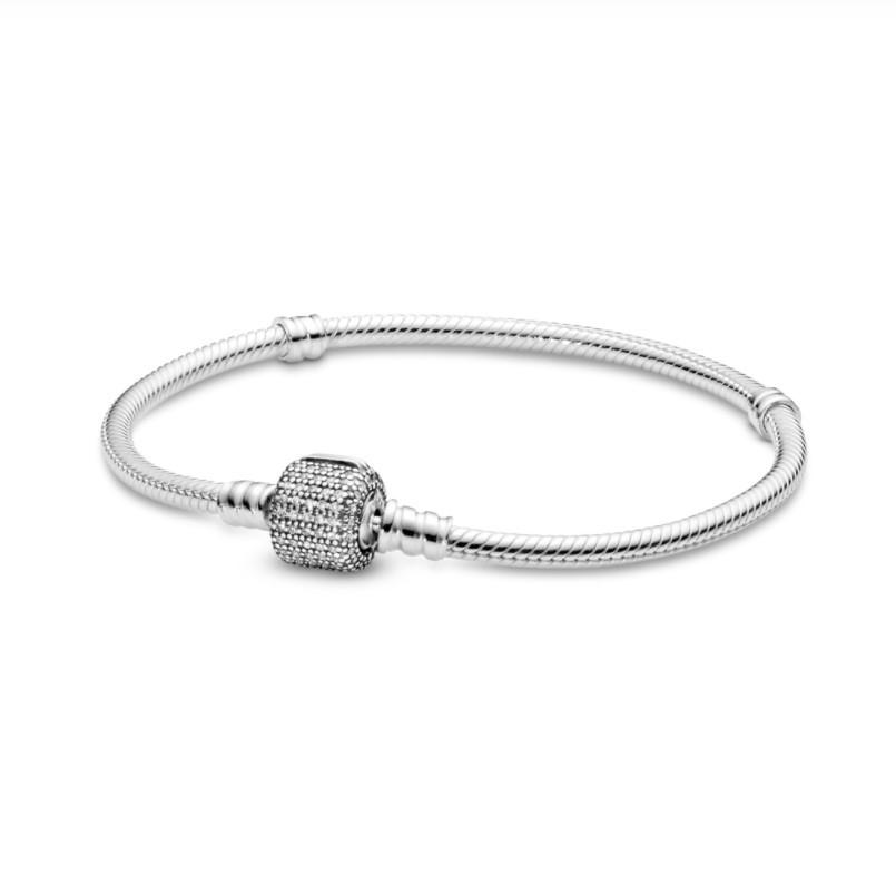 Pandora Жіночий Браслет зі срібла з замком p-lock і цирконієм
