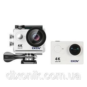 Action Camera Экшн камера EKEN H9 4K white для активного отдыха большой комплект креплений для шлема