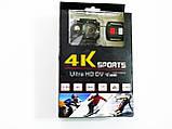 Спортивная Action Camera Экшн камера Q3H WiFi 4K + пульт, фото 9