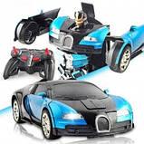 Машинка трансформер Bugatti Robot Car Size 112 Синяя SKL11-276018, фото 2