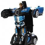 Машинка трансформер Bugatti Robot Car Size 112 Синяя SKL11-276018, фото 3