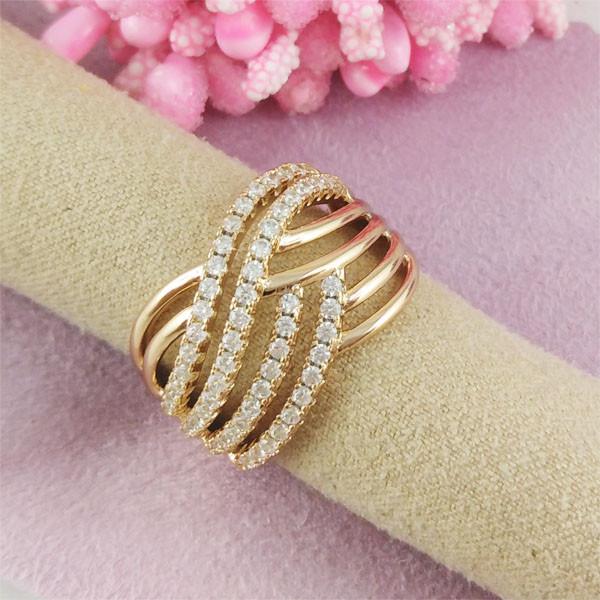 Кольцо Xuping Jewelry размер 18 Доминика медицинское золото позолота 18К А/В 2-0406