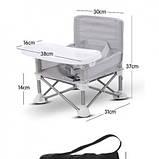 Детский складной стул для кормления Baby seat Pro, тканевый стул с алюминиевыми ножками SKL11-276396, фото 4