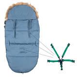 Детский конверт для коляски, санок 4 в 1 Springos Blue SKL41-277689, фото 4