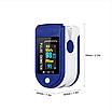 Пульсоксиметр Fingertip Pulse Oximeter LK-88 1 шт Cине-белый (0274), фото 3