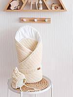 Конверт для новорождённых MagBaby с шапочкой на выписку из роддома демисезонный