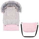 Детский конверт для коляски, санок Maxi 4 в 1 Springos Pink SKL41-277704, фото 2