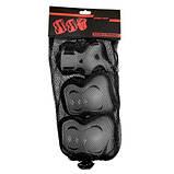 Комплект защитный SportVida Size L Grey/Black SKL41-277755, фото 5