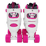 Роликовые коньки квады SportVida Size 31-34 White/Pink SKL41-277906, фото 2