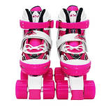 Роликовые коньки квады SportVida Size 31-34 White/Pink SKL41-277906, фото 5