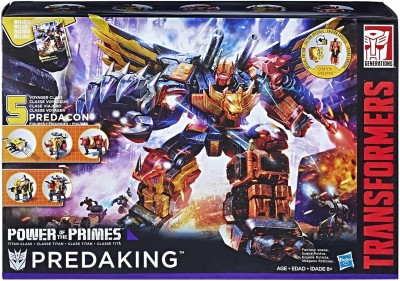 Робот-трансформер Hasbro 5в1 комбайнер Предакинг, Сила Праймов 54 см Predaking, Power of the Primes