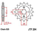 Звезда стальная передняя JT Sprockets JT JTF294.15, фото 2