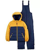 Зимовий дитячий комплект - куртка і напівкомбінезон ОшКош для хлопчика, фото 1