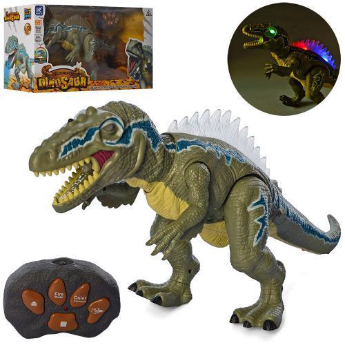 Реалистичный динозавр на радиоуправлении 50 см, ходит, крутит головой, светится, пускает пар, F191