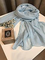 Шарф весенний 176х120 см, Голубой