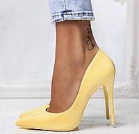 Туфлі жіночі класичні  жовті