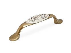 Ручка меблева GIFF UP1911/96 Антична бронза/фарфор