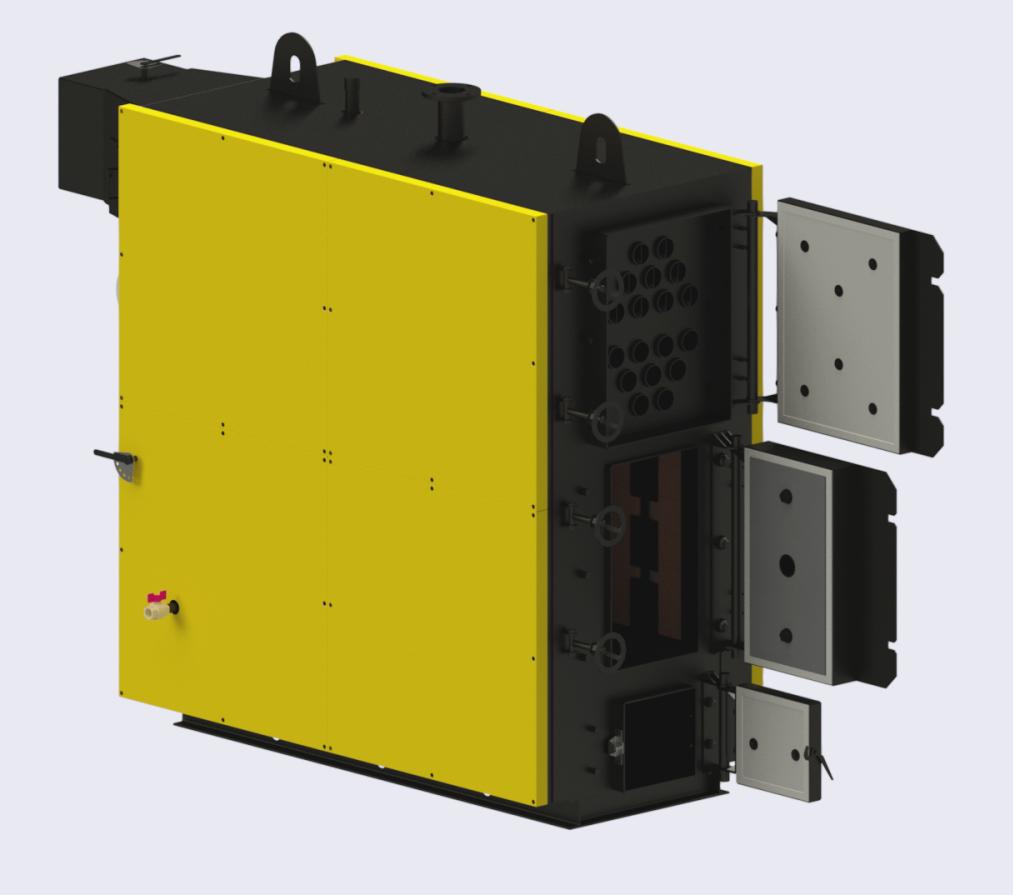 Твердопаливний котел ТПЕ 400 кВт типу  калвис, корди, неус, kalvis