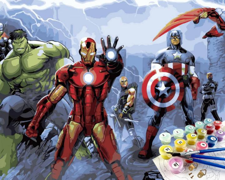 Картина по номерам  Супергерои Мстители Финал Brushme 40 х 50  GX29816
