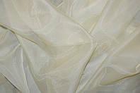 Шифон-кристалон тюль однотонный молочный., фото 1