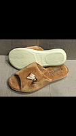 Комнатные тапочки женские Белста светло коричневые открытые 36-41 размер