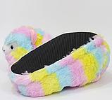 Тапочки-кигуруми разноцветные Альпаки, 36-40, фото 2