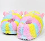 Тапочки-кигуруми разноцветные Альпаки, 36-40, фото 4