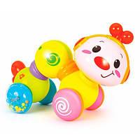 Детская музыкальная игрушка Гусеничка, игрушки для самых маленьких. Hola Toys (997)