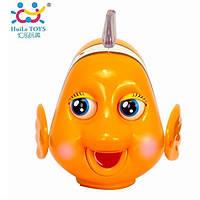 Детская музыкальная игрушка Рыбка-клоун, музыкальная игрушка для самых маленьких. Huile Toys (998)