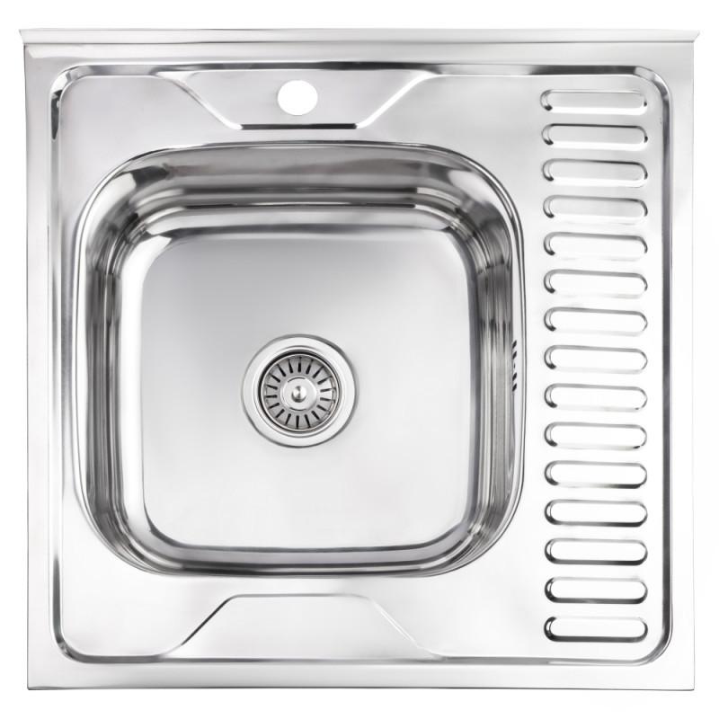 Кухонная мойка Lidz 6060-L Polish 0.6 мм (LIDZ6060LPOL06)