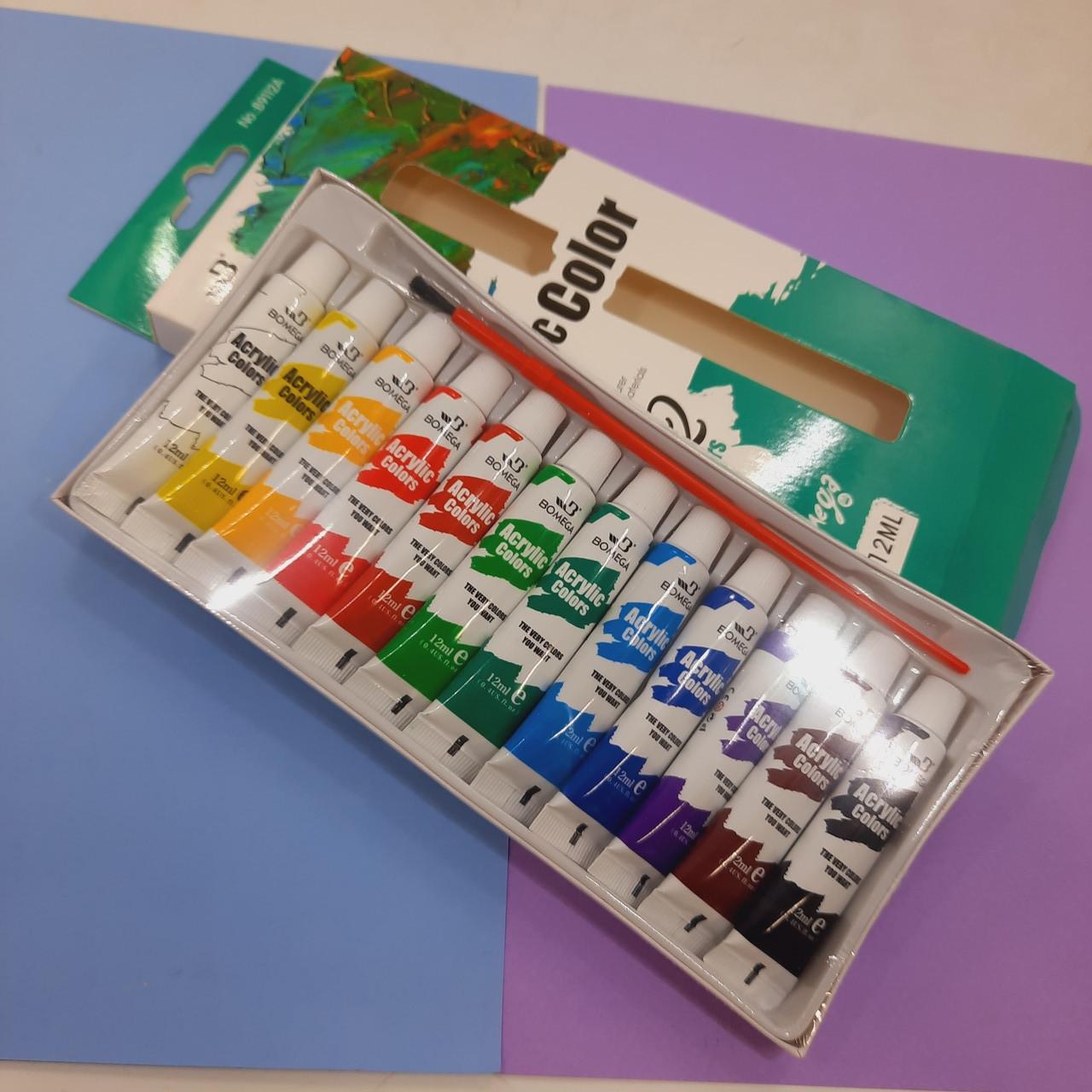 Набор акриловых красок 12 цветов 12 мл
