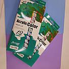 Набор акриловых красок 12 цветов 12 мл, фото 2
